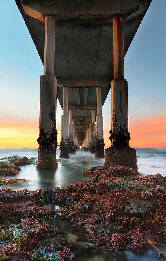 Sunset Photograph - Ocean Beach California Pier 2 by Larry Marshall