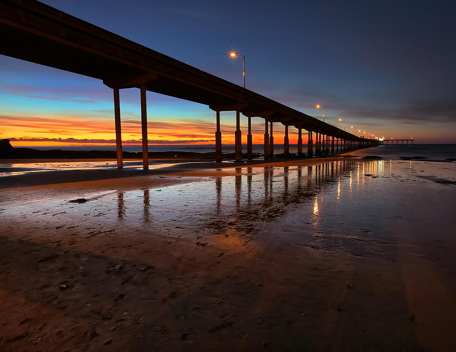 Sunset Photograph - Ocean Beach California Pier 4 by Larry Marshall