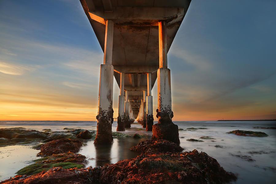 Sunset Photograph - Ocean Beach California Pier by Larry Marshall
