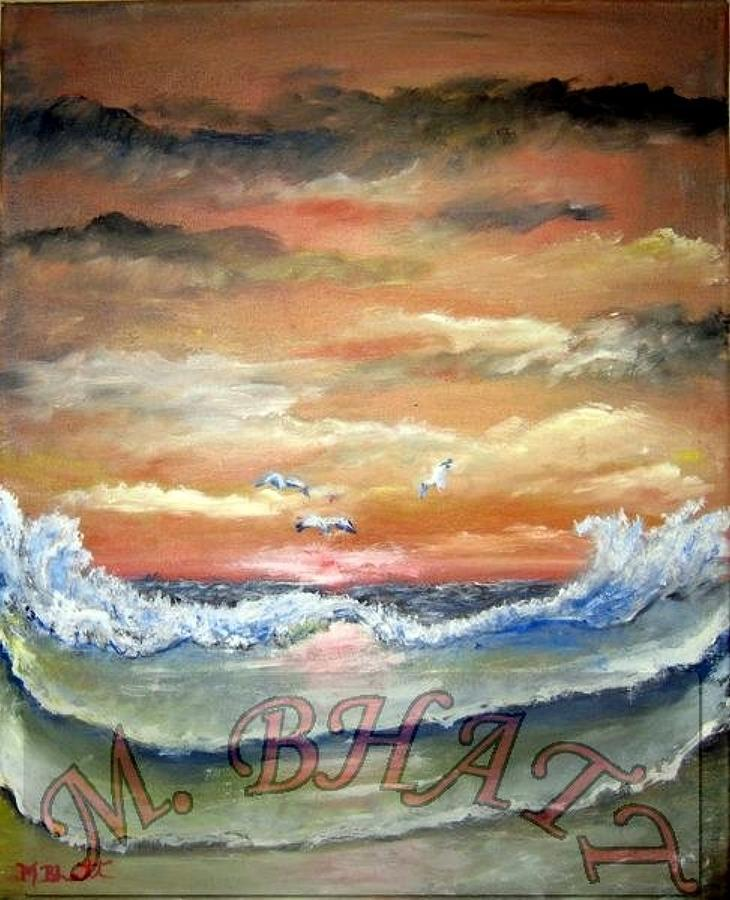 Ocean Painting - Ocean Beauty by M Bhatt