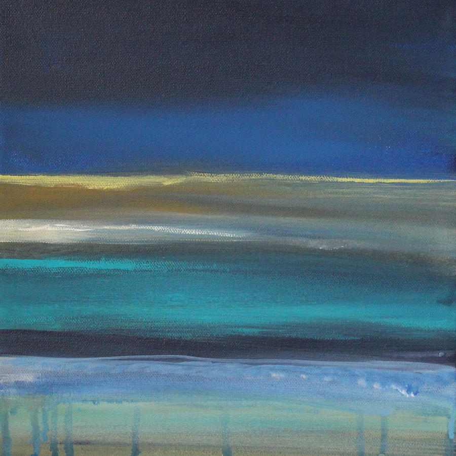 Abstract Painting Painting - Ocean Blue 2 by Linda Woods