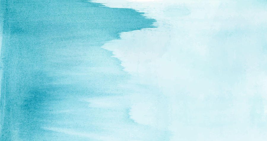Ocean Blue Watercolors Paint Decorative Texture Background Drawing by Ajwad Creative