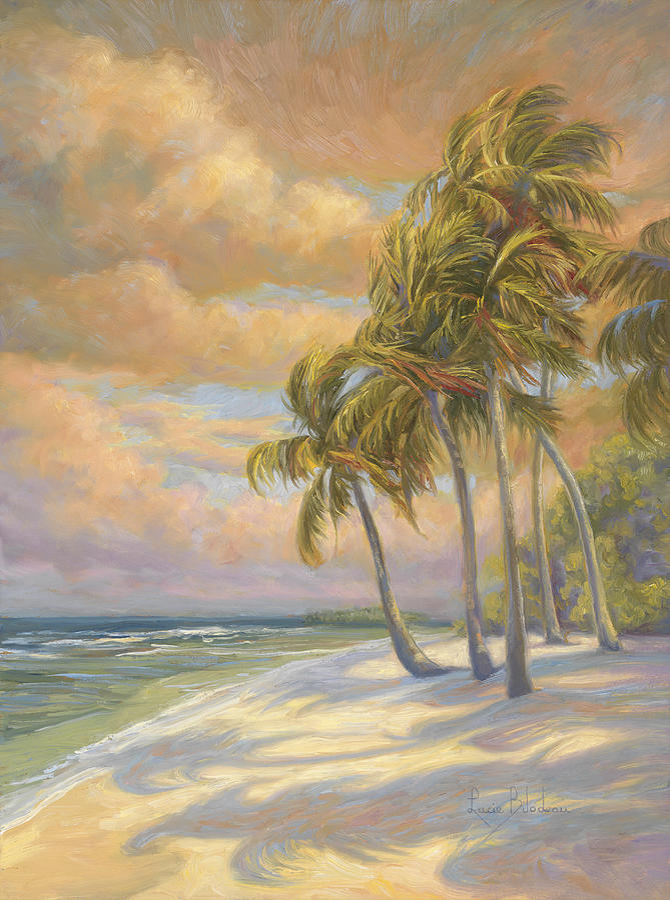 Beach Painting - Ocean Breeze by Lucie Bilodeau