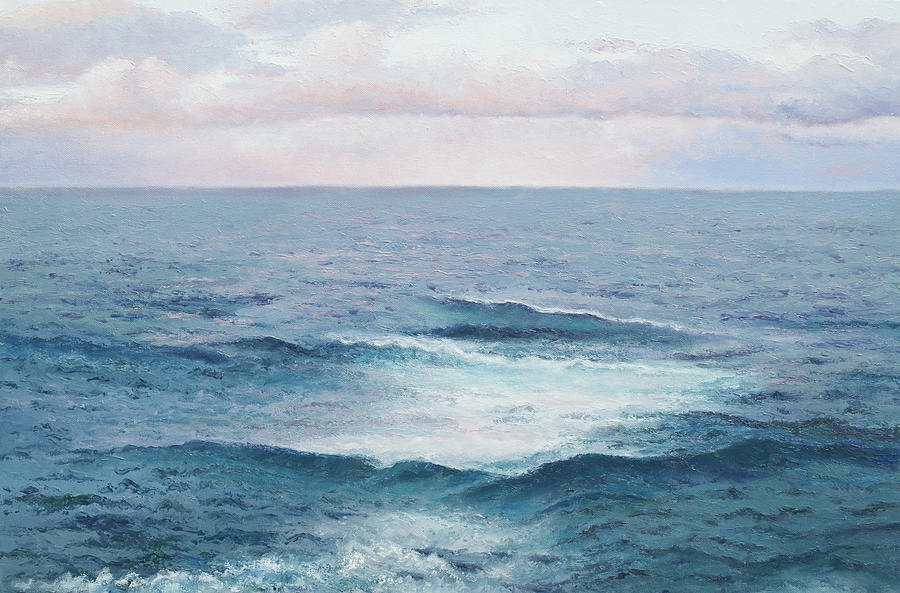 Ocean Painting - Ocean By Jan Matson by Jan Matson