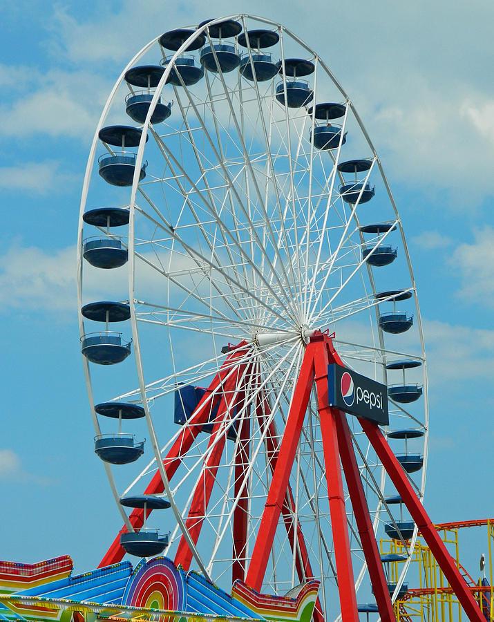 Ocean City Md Ferris Wheel Photograph