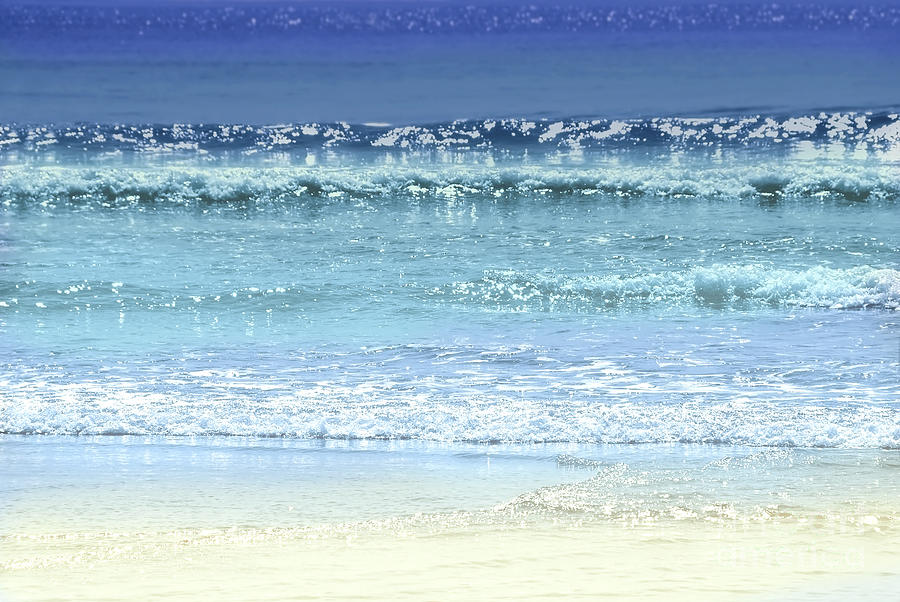 Water Photograph - Ocean Colors Abstract by Elena Elisseeva