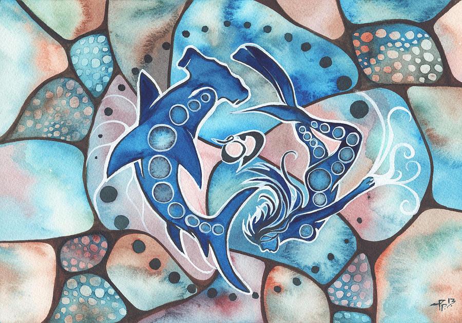 Ocean Painting - Ocean Defender by Tamara Phillips