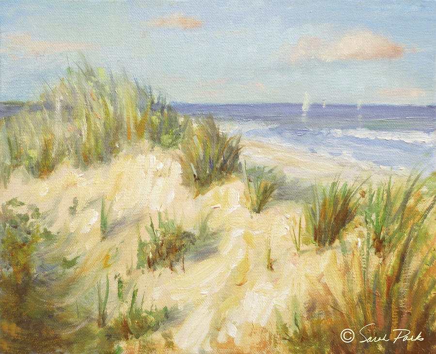 Sail Boats Painting - Ocean Dunes by Sarah Parks