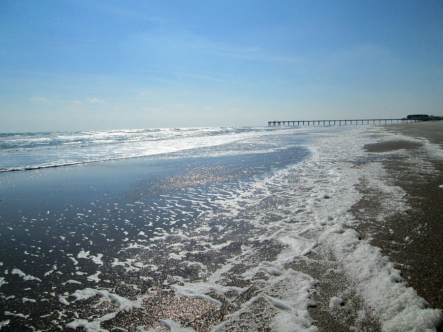 Ocean Photograph - Ocean Foam by Silvie Kendall