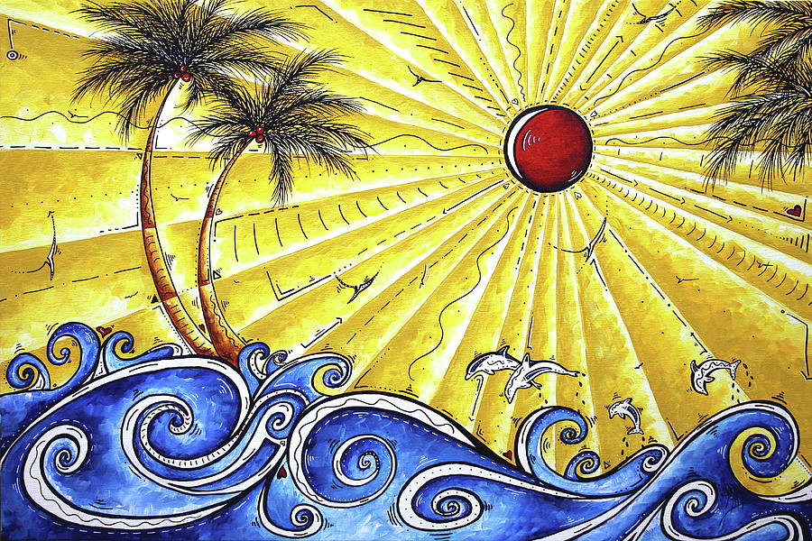 Tropical Painting - Ocean Fury By Madart by Megan Duncanson