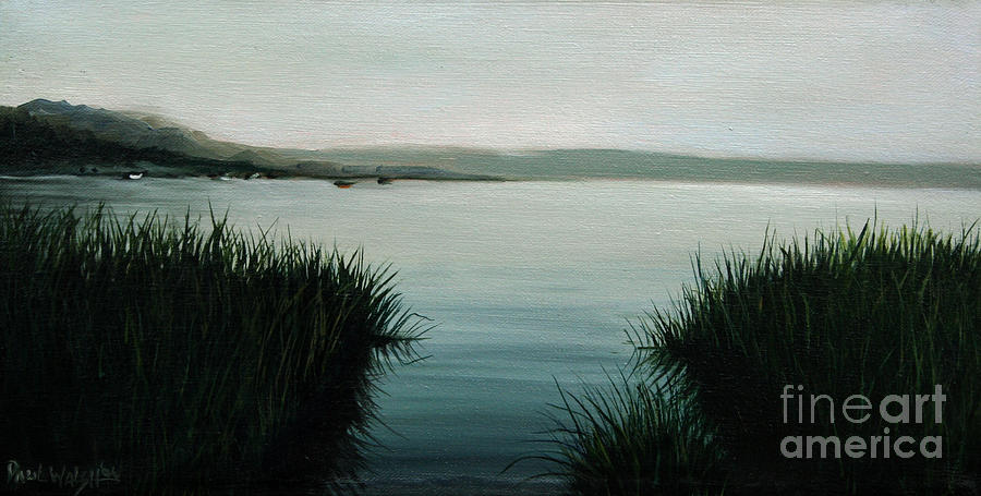 Ocean Landscape Painting - Ocean Grass by Paul Walsh