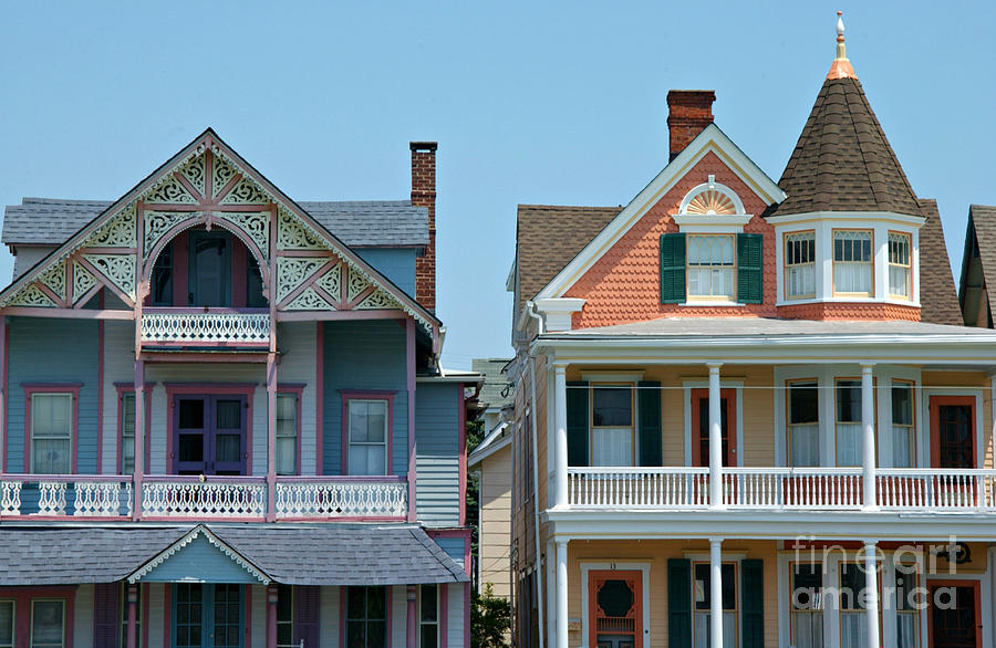 Homes Photograph - Ocean Grove Gingerbread Homes by Anna Lisa Yoder
