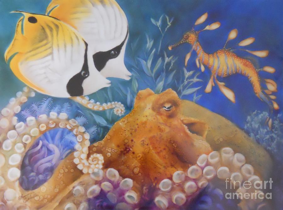 Ocean Painting - Ocean Hang Out by Summer Celeste