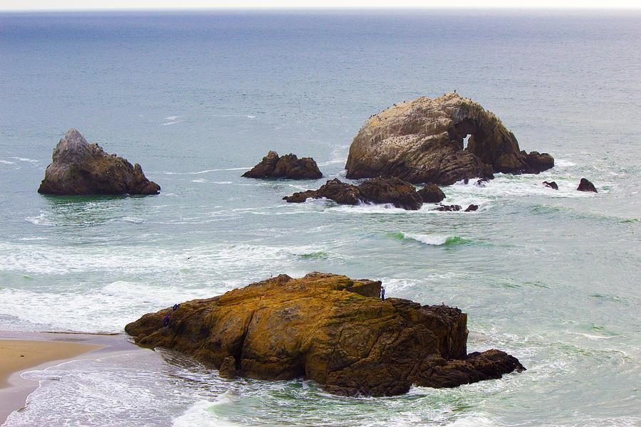 Ocean Photograph - Ocean Rocks Near San Francisco Ca Cliff House by Glen Matthew Laughton