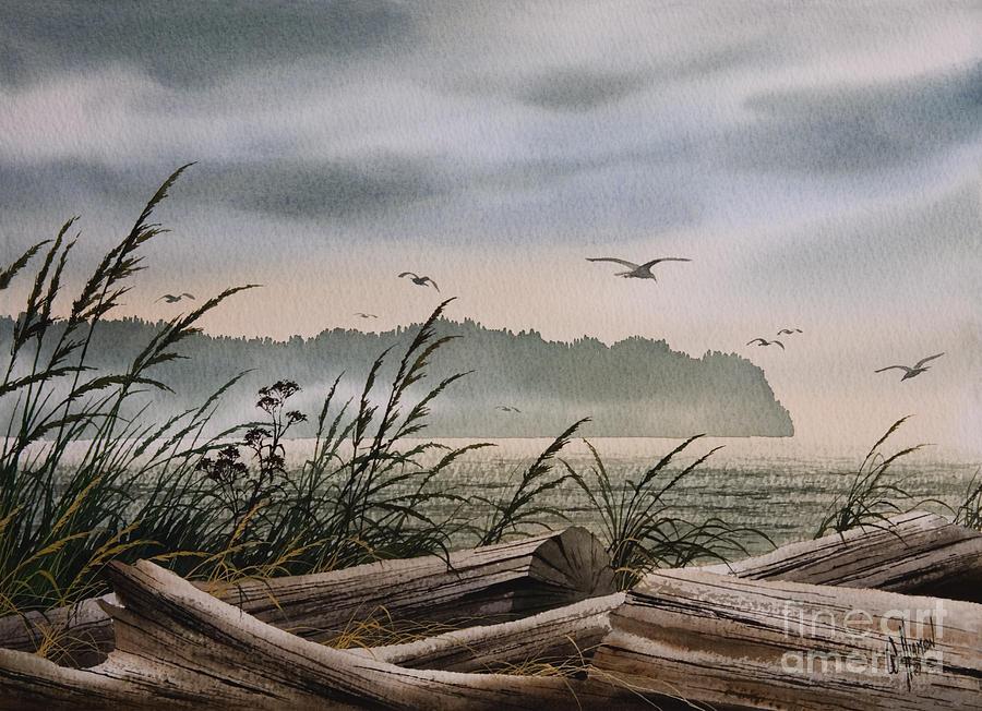 Seaside Painting - Ocean Shore by James Williamson