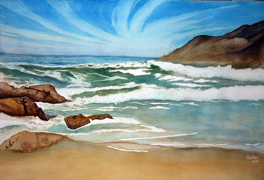 Ocean Painting - Ocean Side by Rick Huotari