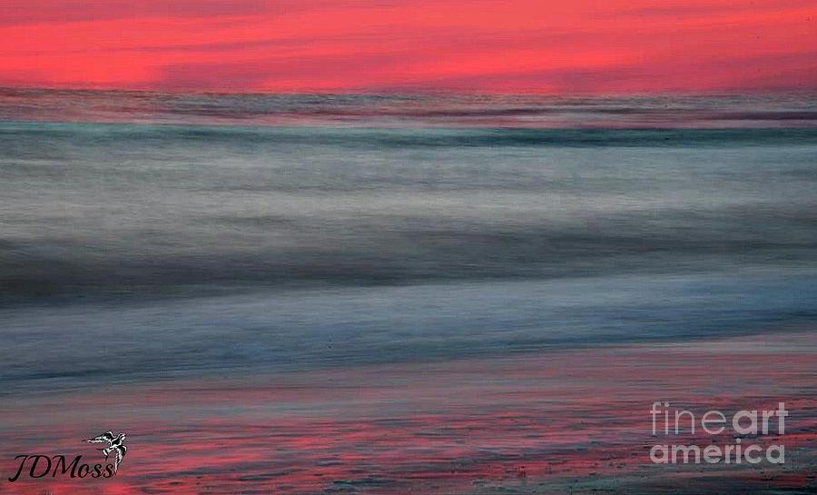 Ocean Painting - Ocean Smear by Janet Moss