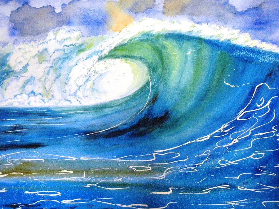 Ocean Spray Painting By Carlin Blahnik