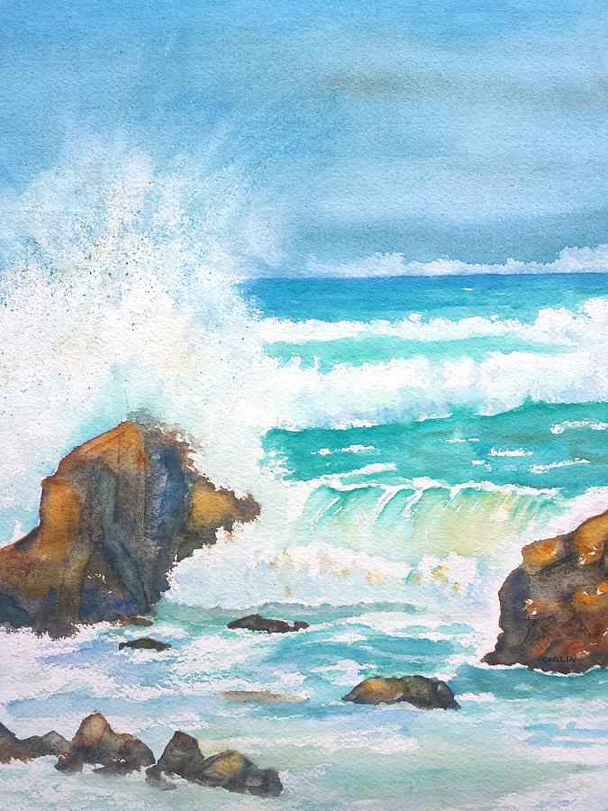 Ocean Storm Sea Squall Painting By Carlin Blahnik