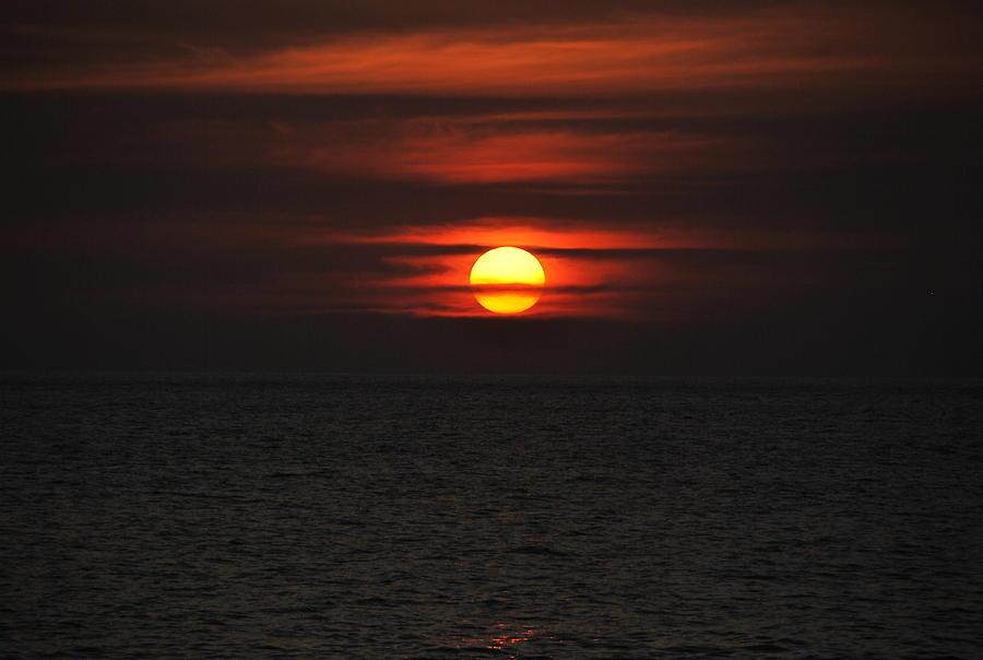 Ocean Photograph - Ocean Sunset by Adrienne Zinn