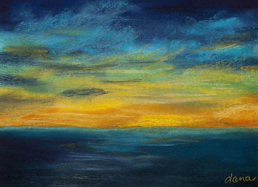 Ocean Painting - Ocean Sunset by Dana Strotheide