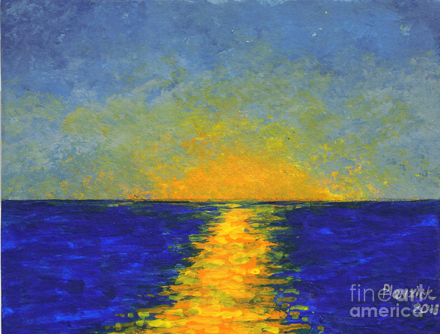 ocean sunset painting by susan plenzick