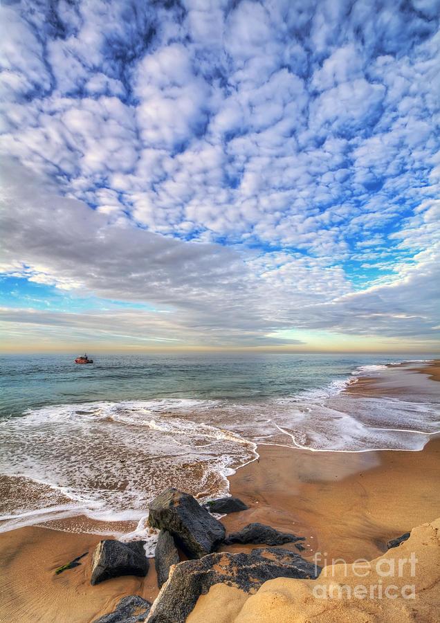 Ocean Photograph - Ocean Touches The Sky by Eddie Yerkish