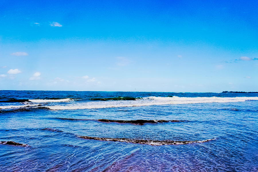 Atlantic Photograph - Ocean Trail At Isla Verde by Sandra Pena de Ortiz