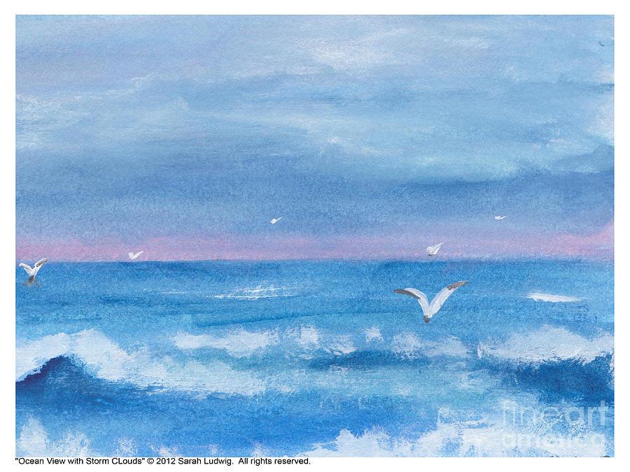 Ocean View Painting - Ocean View #2 by Sarah Howland-Ludwig