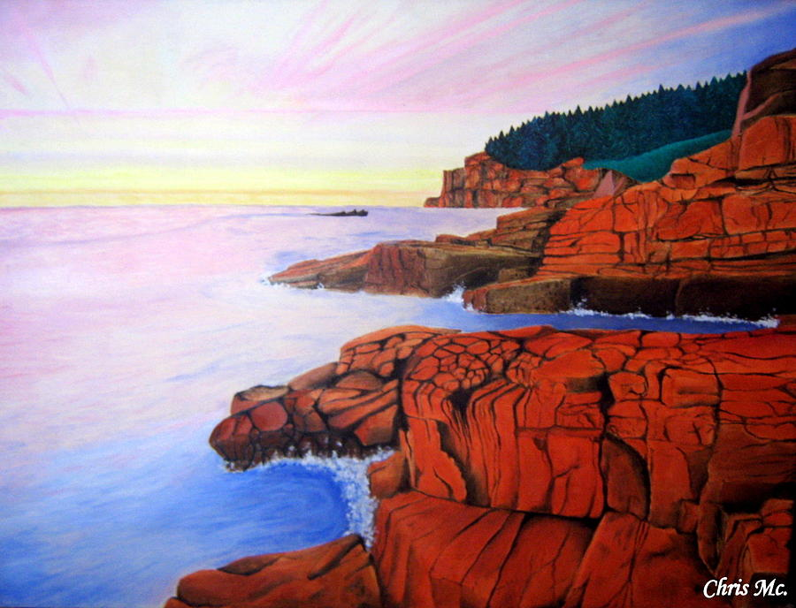Nature Painting - Ocean View by Chris Mc