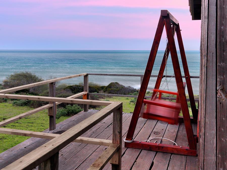 Beach Photograph - Ocean View Seat by Leland D Howard