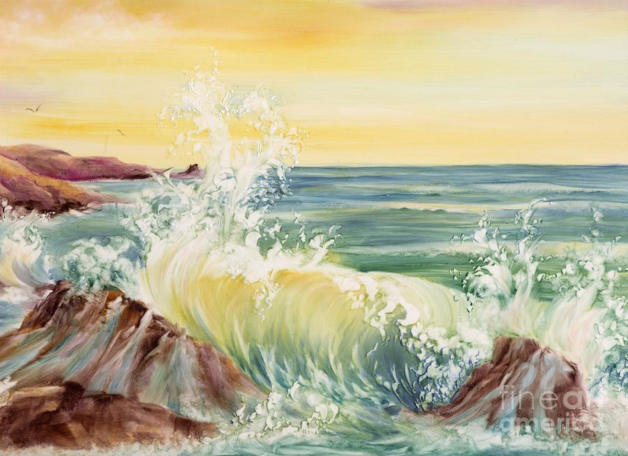 Water Painting - Ocean Waves II by Summer Celeste