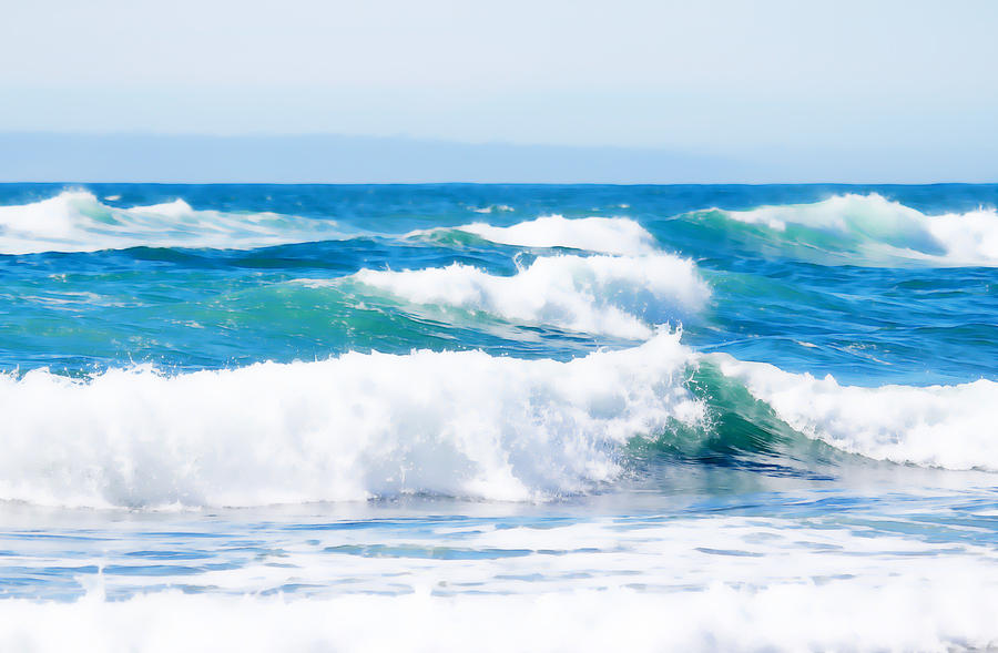 Ocean Waves Of Color Photograph By Athena Mckinzie