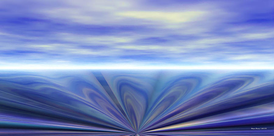 Blue Painting - Oceanic Sink Hole by Wayne Bonney