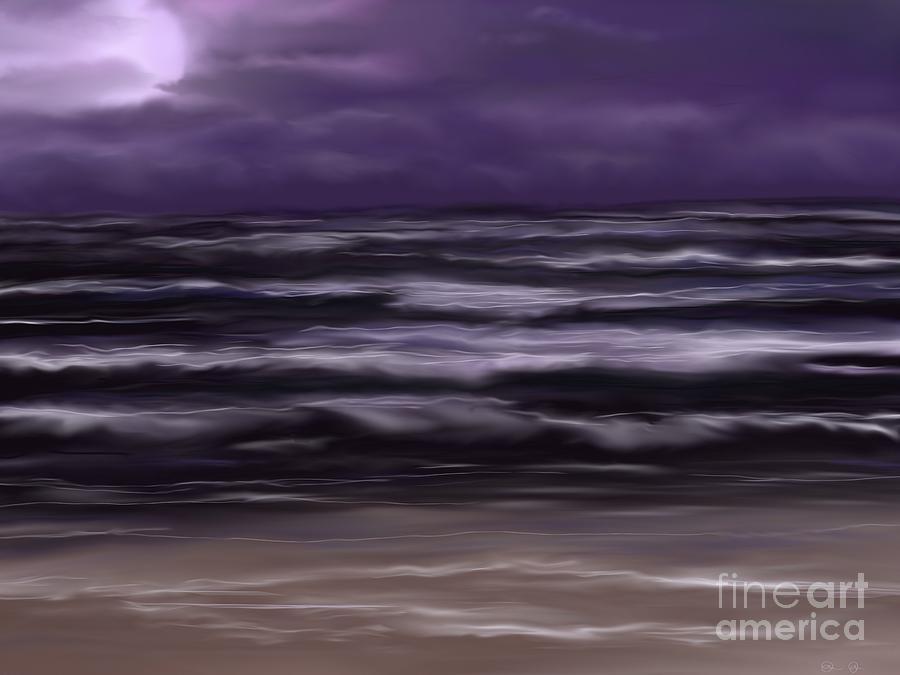 Night Painting - Ocean Night by Roxy Riou