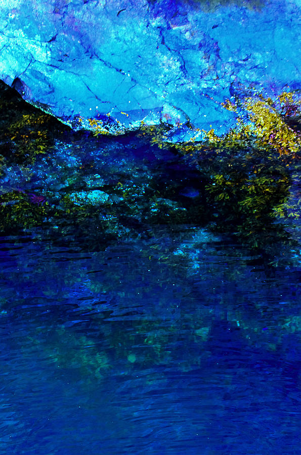 Ocean Photograph - Oceans Edge by Michael Nowotny