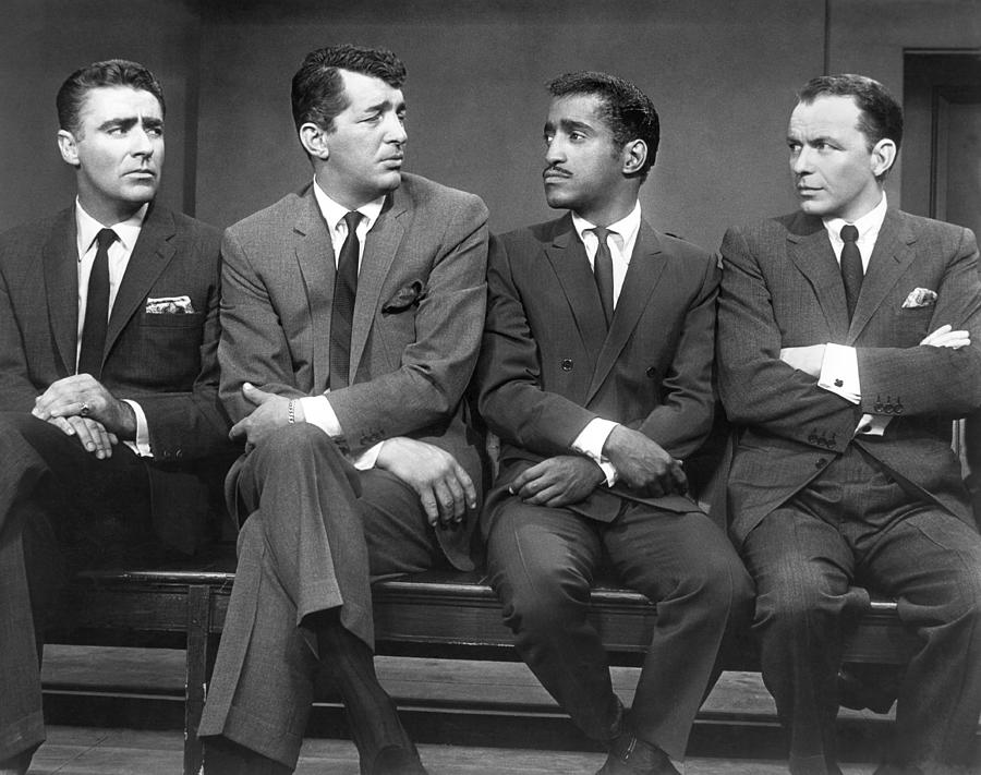 1960 Photograph - Oceans Eleven Rat Pack by Underwood Archives