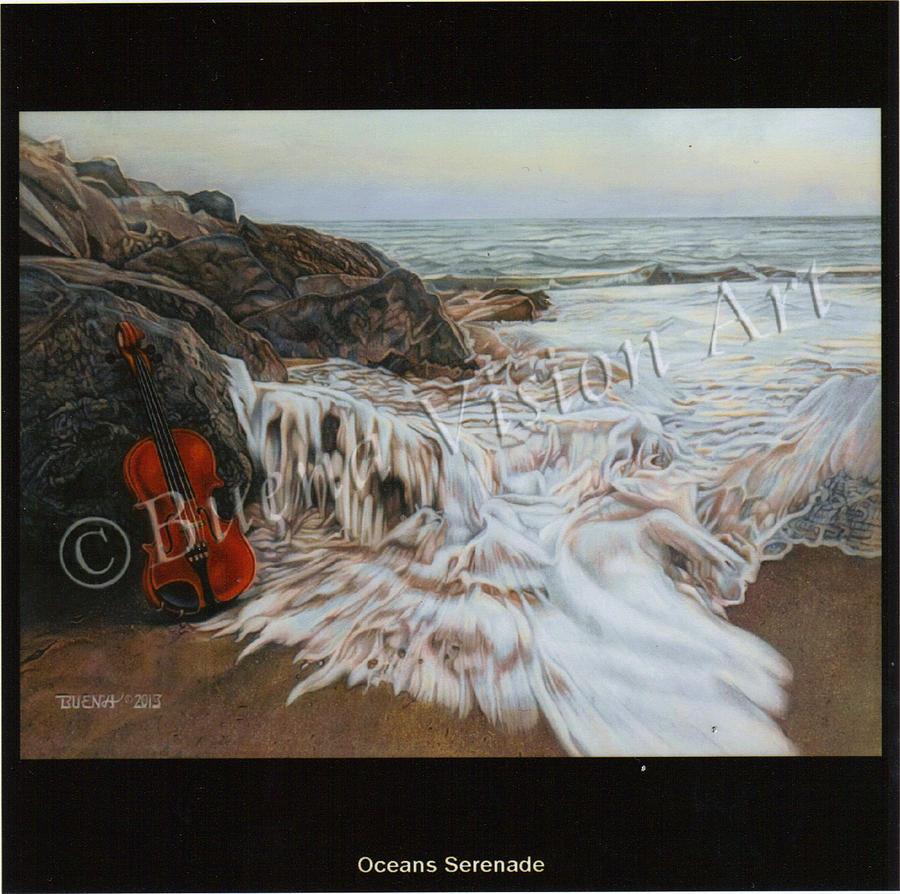 Ocean Drawing - Oceans Serenade by Buena Johnson