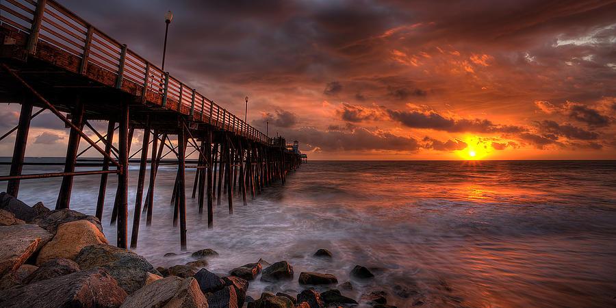 Oceanside Pier Perfect Sunset -ex-lrg Wide Screen Photograph