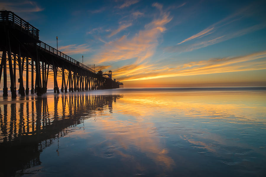 Long Exposure Photograph - Oceanside Reflections 2 by Larry Marshall