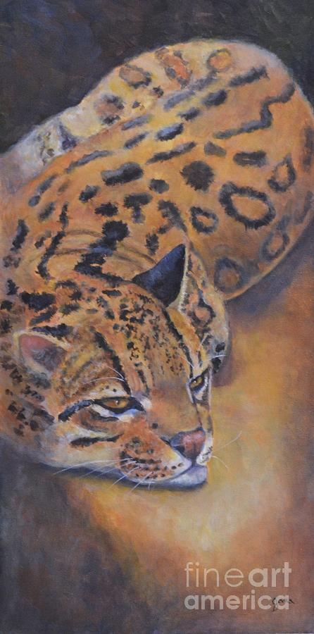 Animal Painting - Ocelot by Jana Baker