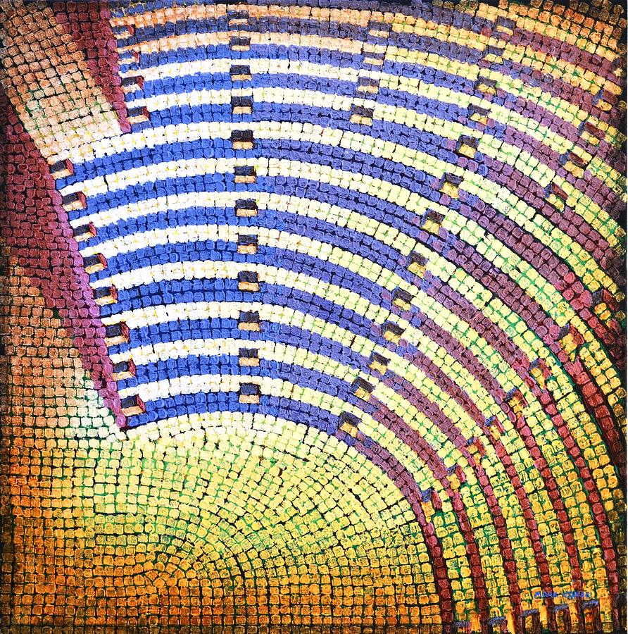 Roman Painting - Ochre Auditorium by Mark Jones