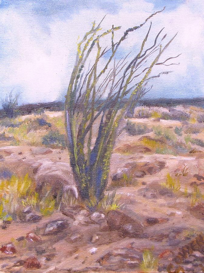 Desert Landscape Painting - Ocotillo by Caroline Owen-Doar