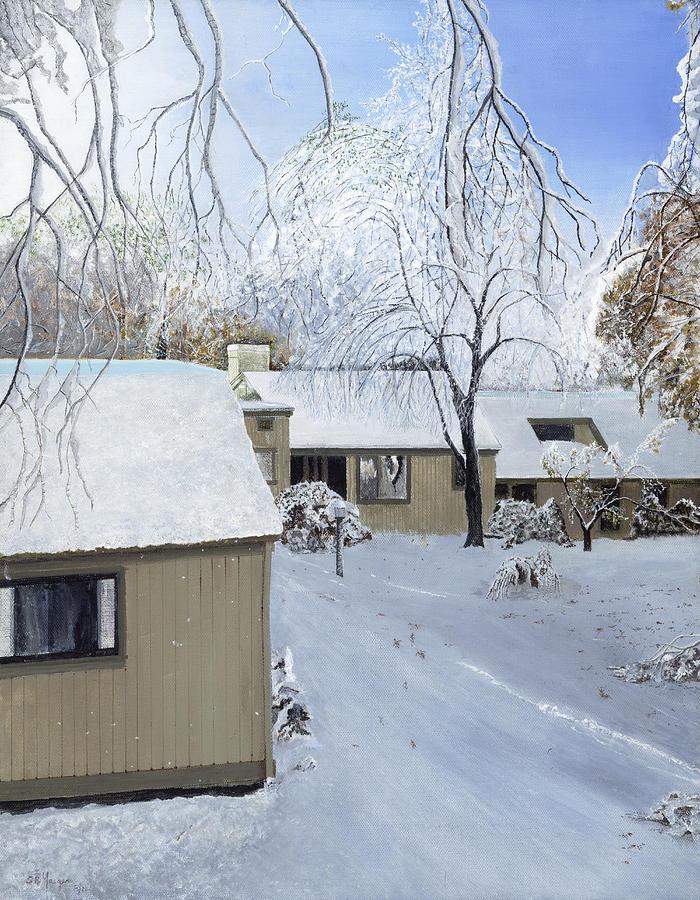 Oct Snow Storm Painting by Stuart B Yaeger