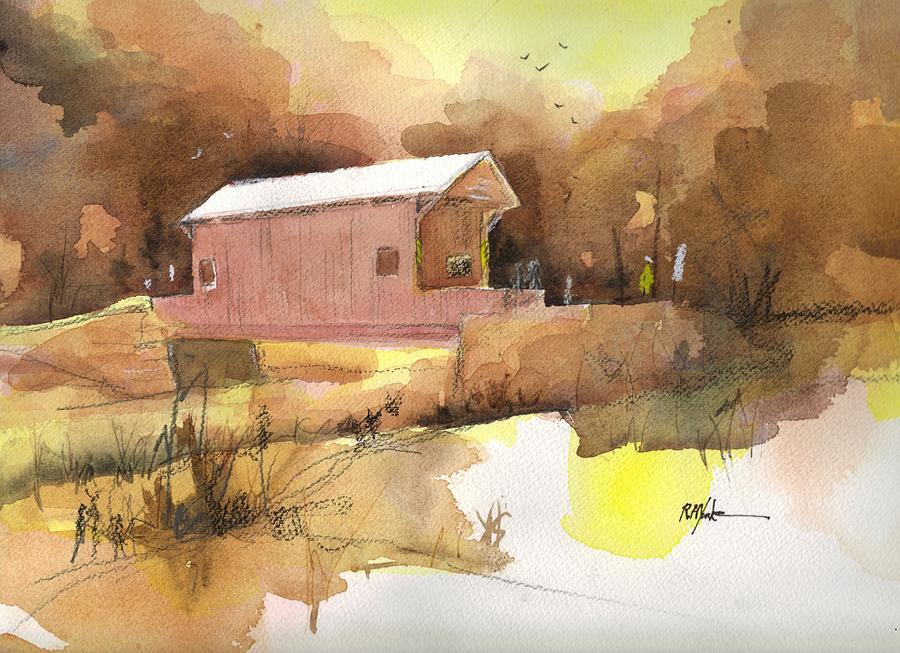 Covered Bridge Painting - October 16th  by Robert Yonke