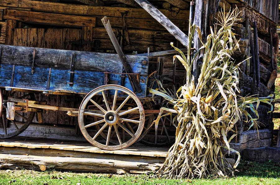 Still Life Photograph - October Barn by Jan Amiss Photography