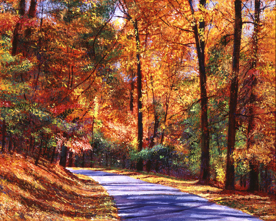 Roads Painting - October Colors by David Lloyd Glover
