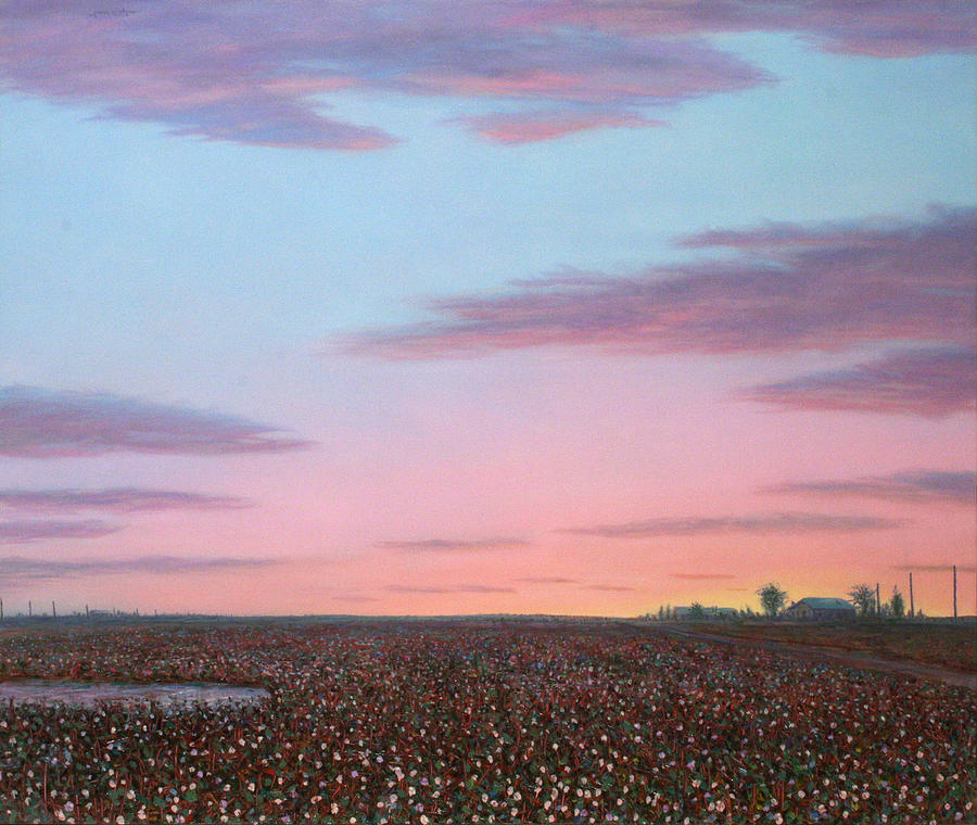 Landscape Painting - October Cotton by James W Johnson