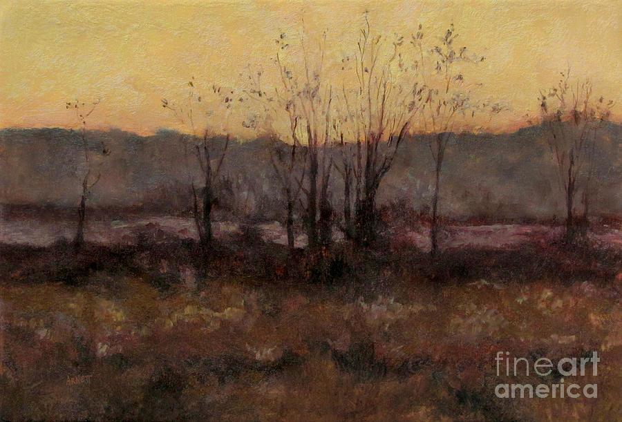 October Painting - October Dusk by Gregory Arnett