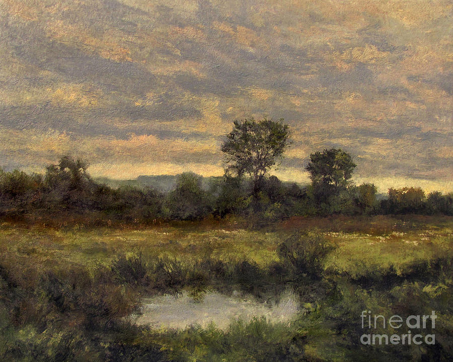 Autumn Painting - October Evening Storm by Gregory Arnett